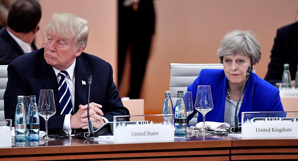 Donald Trump Theresa May  G20 Hamburg Almanya