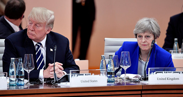Donald Trump Theresa May  G20 Hamburg Almanya