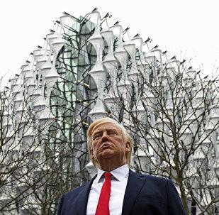 Madame Tussauds Müzesi balmumu Donald Trump heykeli ABD'nin yeni Londra Büyükelçiliği