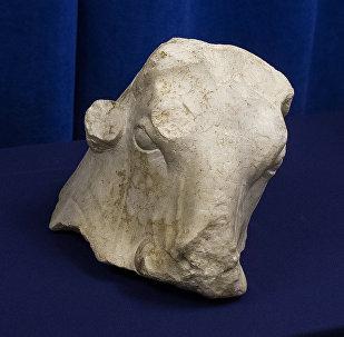 Lübnan'a ait, 2 milyon dolar değerindeki 'boğa başı' olarak bilinen mermer