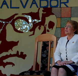 Michelle Bachelet Küba'da Salvador Allende Okulu'nda
