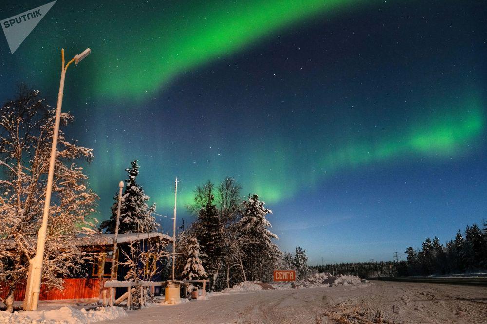 Rusya'da kutup ışıkları