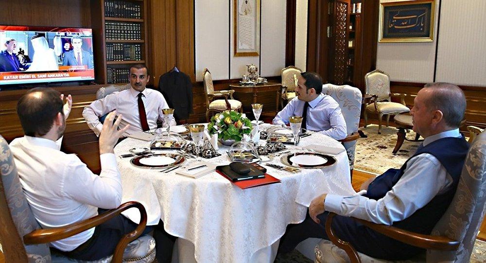 Katar Emiri el-Sani Cumhurbaşkanı Recep Tayyip Erdoğan ile görüştü