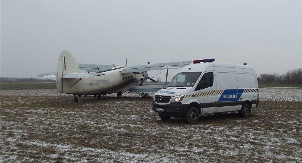 AN2 tipi uçakla Macaristan'a yasa dışı şekilde giren 11 sığınmacının yakalandığı bildirildi