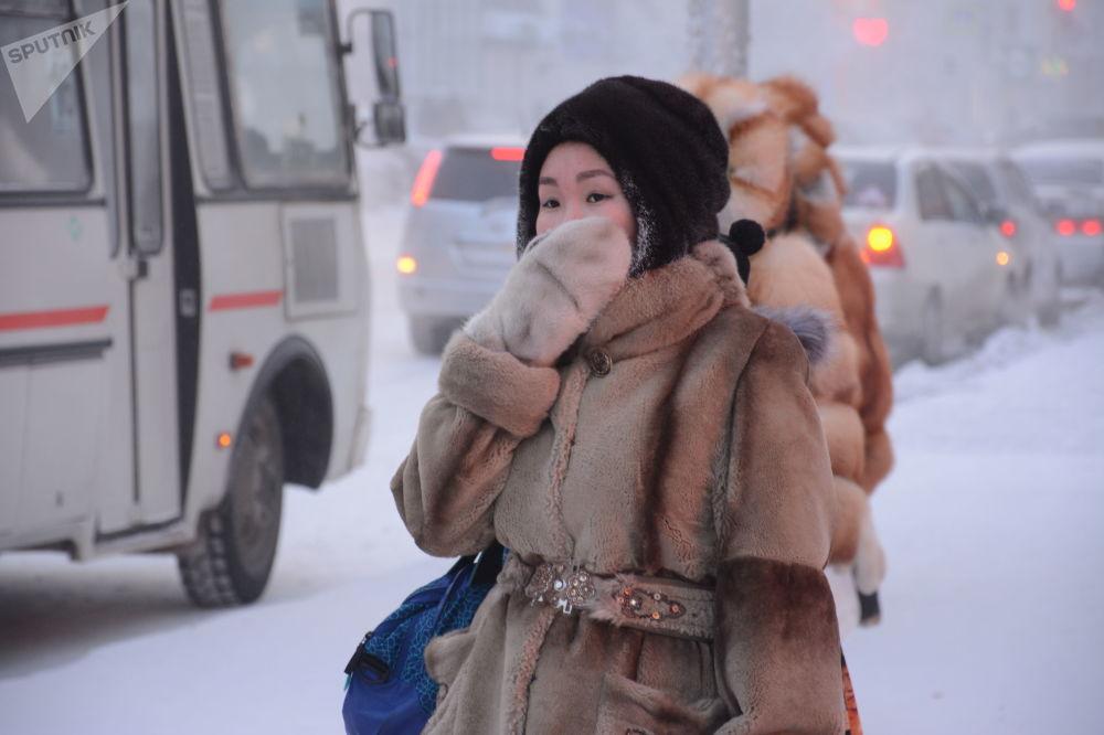 Yakutistan'da eşsiz ayaz