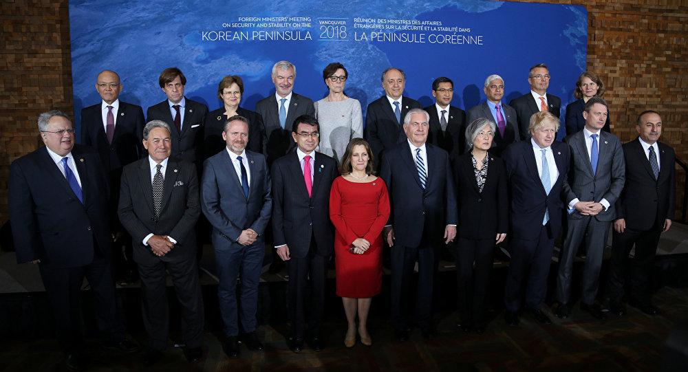 Kanada'nın Vancouver kentinde Kuzey Kore gündemiyle yapılan toplantı