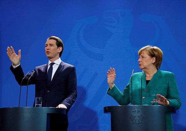 Angela Merkel Sebastian Kurz Berlin