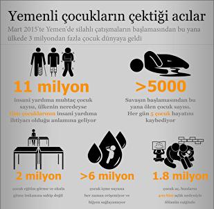 Yemenli çocukların çektiği acılar