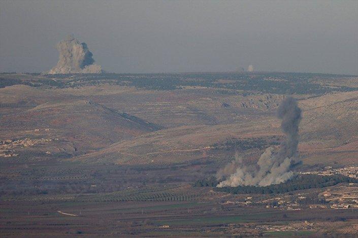 Afrin bölgesinde bulunan hedeflere Türk savaş jetleri hava harekatı gerçekleştirdi.