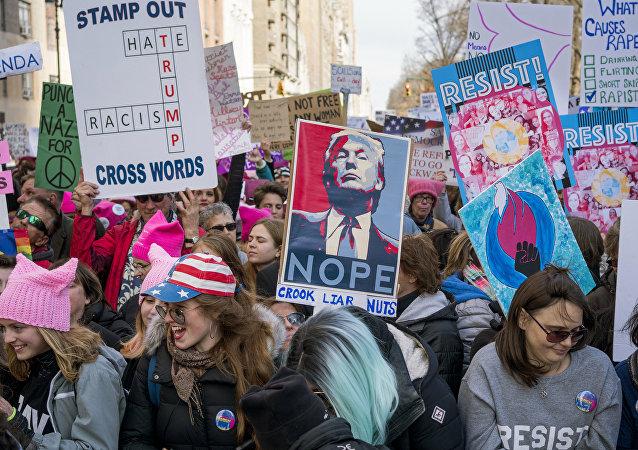 Kadınlar Yürüyüşü 20 Ocak 2018 New York