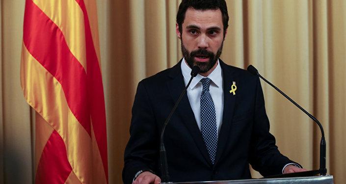 Katalonya Parlamentosu Sözcüsü Roger Torrent