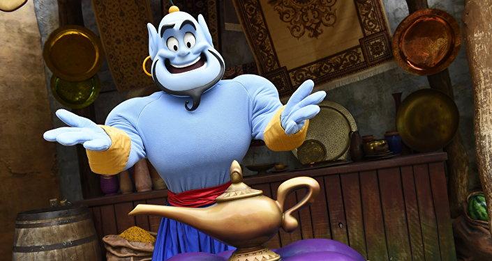 Disney'in 'Aladdin' çizgi filmindeki cin karakteri