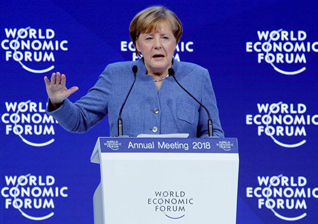 Angela Merkel - Davos