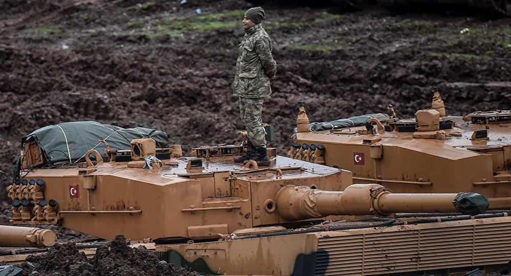 TSK Afrin Alman üretimi Leopard tankları