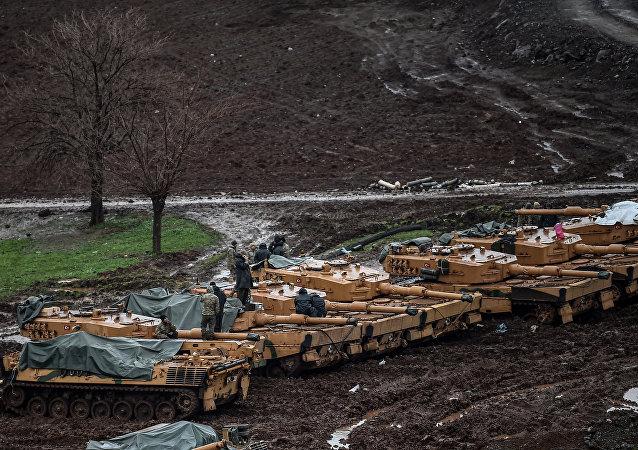 TSK Leopard 2A4 tankları Hatay Suriye sınırı