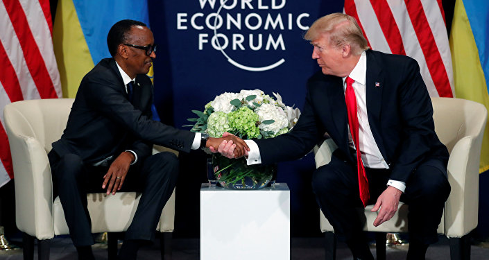 Donald Trump  Paul Kagame World Economic Forum (WEF) Davos 2018