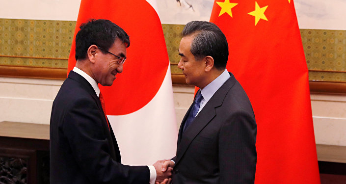 Japonya Başbakanı Taro Kono- Mevkidaşı Wang Yi