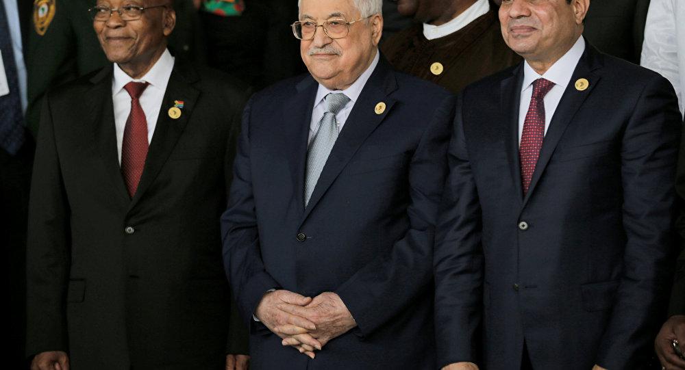 Filistin Devlet Başkanı Mahmud Abbas Afrika Birliği Liderler Zirvesi'nde