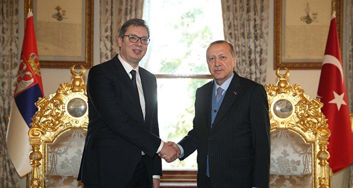 Cumhurbaşkanı Recep Tayyip Erdoğan, Sırbistan Devlet Başkanı Aleksandar Vucic'i kabul etti.