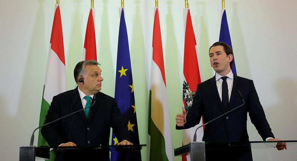 Macaristan Başbakanı Viktor Orban ile Avusturya Başbakanı Sebastian Kurz