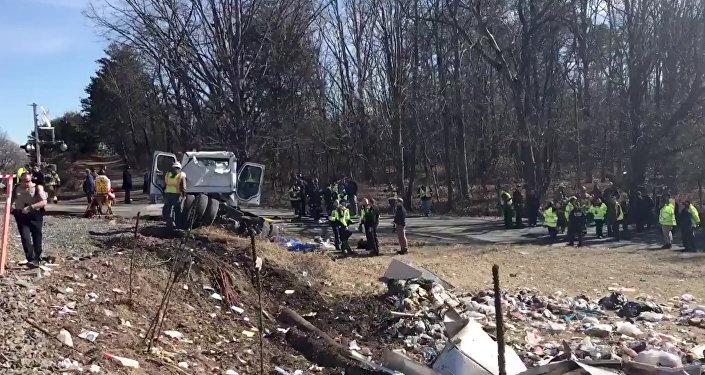 ABD'li vekilleri taşıyan tren kaza yaptı