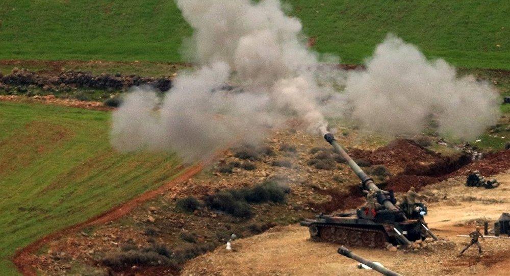 Zeytin Dalı Harekatı, Hatay'ın Hassa ve Kırıkhan ilçeleri karşısındaki terör mevzileri, Türk Silahlı Kuvvetleri (TSK) topçu birliklerince ateş altına alındı.