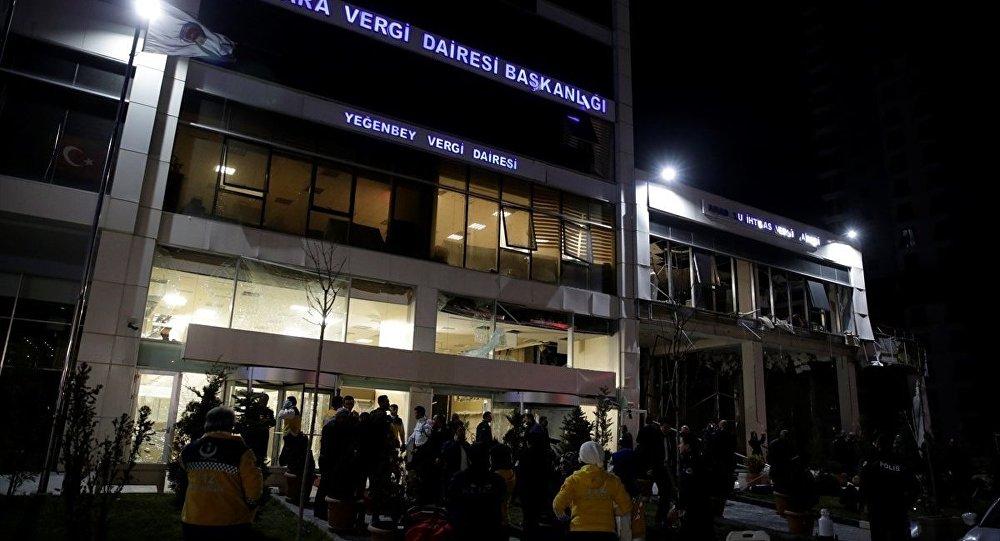 Ankara'da vergi dairesinde patlama