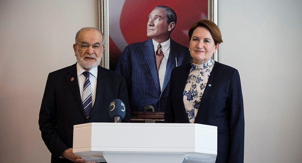 Saadet Partisi Genel Başkanı Temel Karamollaoğlu, İYİ Parti Genel Başkanı Meral Akşener'e iadeiziyarette bulundu.