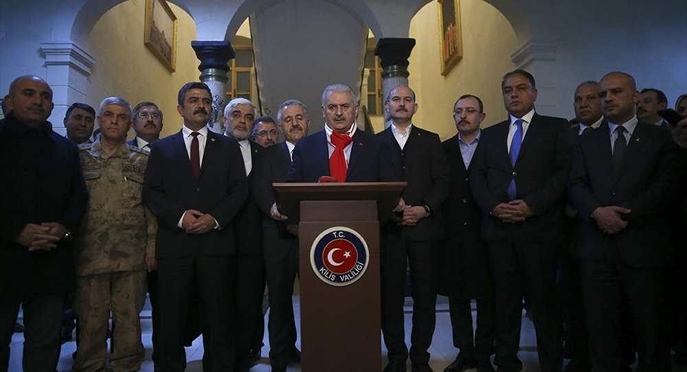 Başbakan Binali Yıldırım, İçişleri Bakanı Süleyman Soylu ile Ulaştırma, Denizcilik ve Haberleşme Bakanı Ahmet Arslan