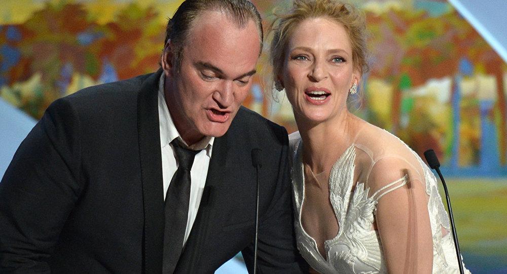 67. Cannes Film Festivali kapanış töreni Quentin Tarantino Uma Thurman 2014