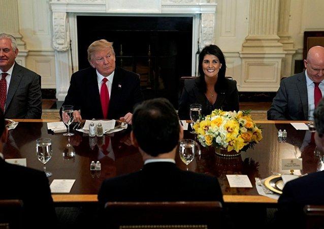 Tillerson, Trump, Haley, McMaster