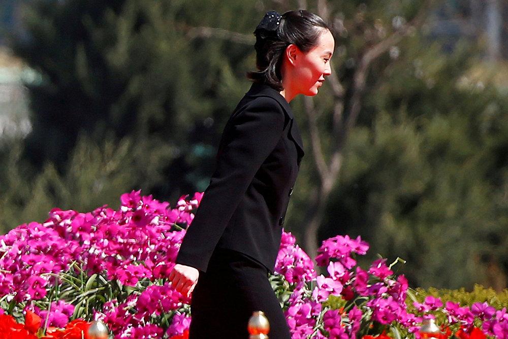 Kuzey Kore lideri Kim Jong-un'un kız kardeşi Kim Yo-jong