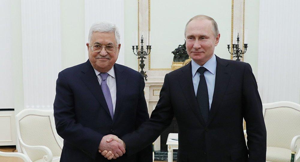 Filistin Devlet Başkanı Mahmud Abbas ile Rusya Devlet Başkanı Vladimir Putin