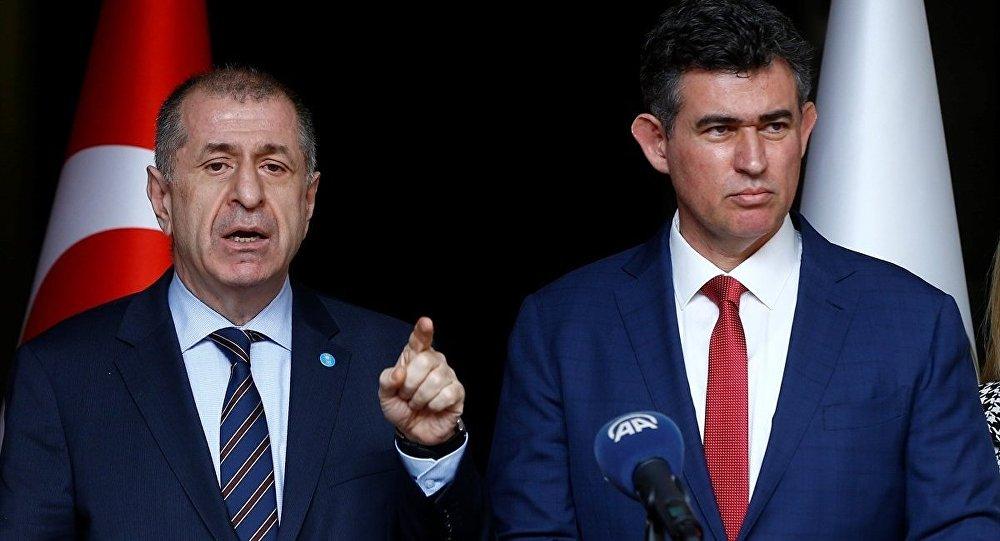 İYİ Parti Genel Başkan Yardımcısı Ümit Özdağ ve Türkiye Barolar Birliği (TBB) Başkanı Metin Feyzioğlu