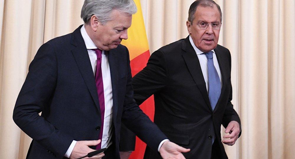 Rusya Dışişleri Bakanı Sergey Lavrov- Belçika Dışişleri Bakanı Didier Reynders