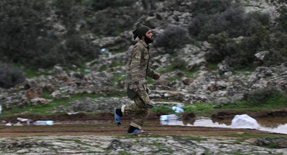 Türkiye destekli ÖSO güçleri-Afrin kırsalı