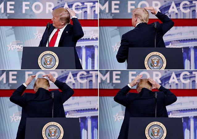 Trump Muhafazakar Siyasi Eylem Konferansı'nda (CPAC) adeta 'kelaj' şovu yaptı.