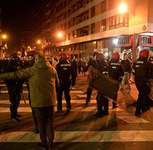 Bilbao'da Spartak Moskova-Athletic Bilbao maçı öncesi kavga çıktı