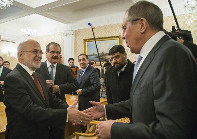 Sergey Lavrov, Iraklı mevkidaşı İbrahim el Caferi'yle görüştü