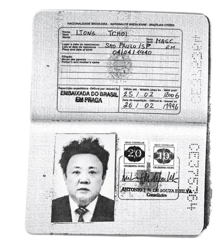 Kim Jong-Il için yapılmış sahte Brezilya pasaportu