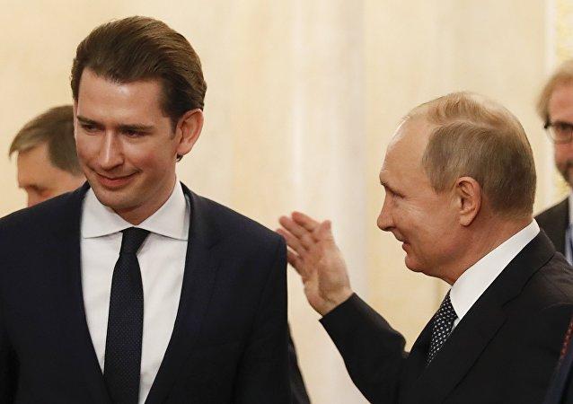 Vladimir Putin Sebastian Kurz Kremlin Moskova