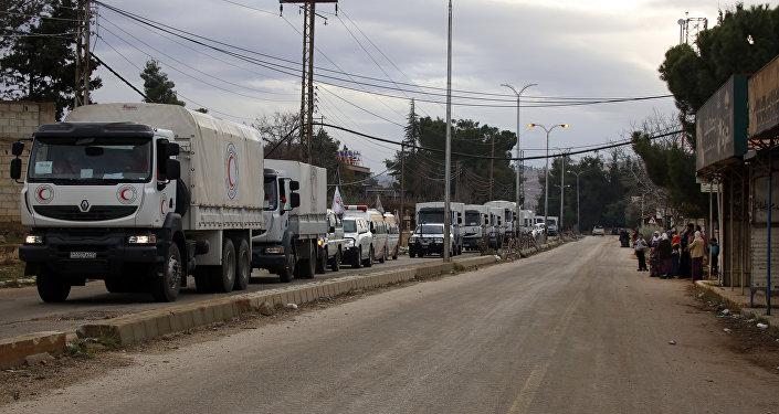 Kızılay insani yardım konvoyu