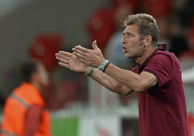 Massimo Carrera, Spartak's acting head coach, at the Russian Premier Football League championship's 2nd round match FC Spartak Moscow vs. FC Krylya Sovetov Samara. (File)