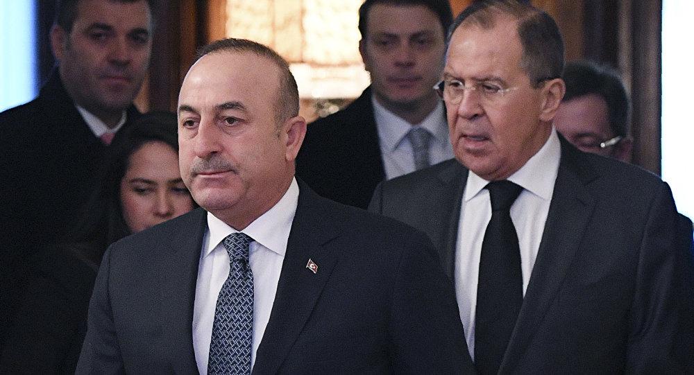 Rusya Dışişleri Bakanı Sergey Lavrov ve Türk mevkidaşı Mevlüt Çavuşoğlu