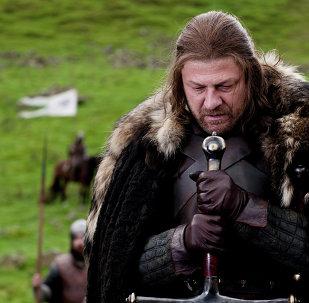 Sean Bean portrays Eddard Stark in a scene from the HBO series
