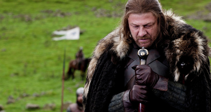 Sean Bean portrays Eddard Stark in a scene from the HBO series
