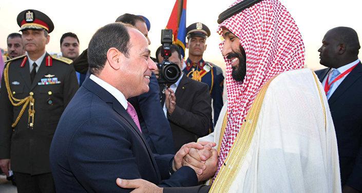 Suudi Arabistan Veliaht Prensi Muhammed bin Selman ile Mısır Cumhurbaşkanı Abdulfettah Sisi