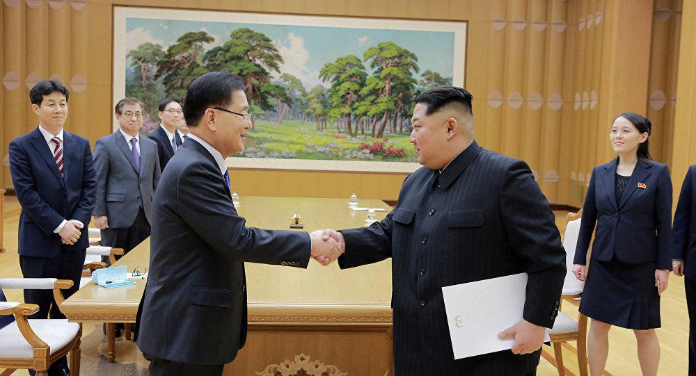 Heyet, Güney Kore Devlet Başkanı Moon-Jae-in'in yeni görüşmeler için Kim'i Güney'e davet ettiği mektubu da Kuzey Kore liderine teslim etti. KCNA'dan yapılan açıklamada  Kim'in mektup konusunda 'fikir teatisinde bulunduğu ve tatmin edici bir anlaşma yaptığı' belirtilerek bu konuda harekete geçilmesi talimatı verdiğini aktardı. Ancak talimatlar konusunda ayrıntı verilmedi. 1950-1953 savaşı sonrası barış anlaşması imzalamadıkları için hala teknik olarak savaşta sayılan Kuzey ve Güney Kore'nin liderleri 70 yılda sadece 2 kez bir araya gelmişti.