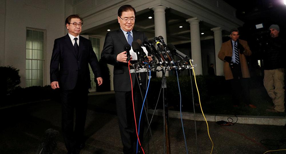 Güney Kore Devlet Başkanı Moon Jae-in'in Ulusal Güvenlik Danışmanı Chung Eui-yong