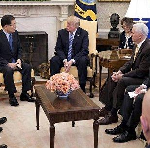 ABD Başkanı Donald Trump- Güney Kore Ulusal Güvenlik Danışmanı Chung Eui-yong